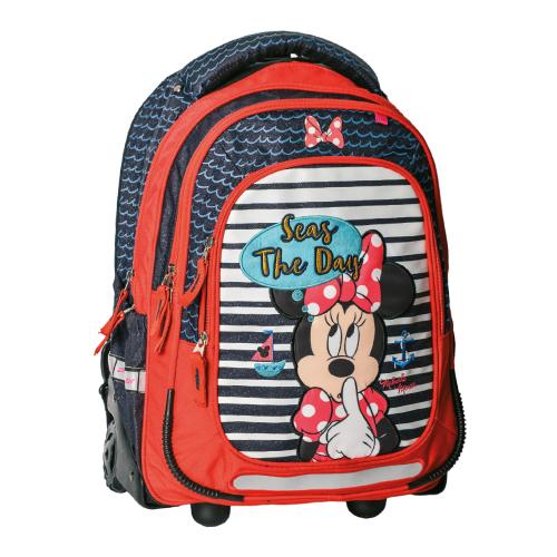 PLAY BAG - Batoh školský na kolieskach Minnie Summer
