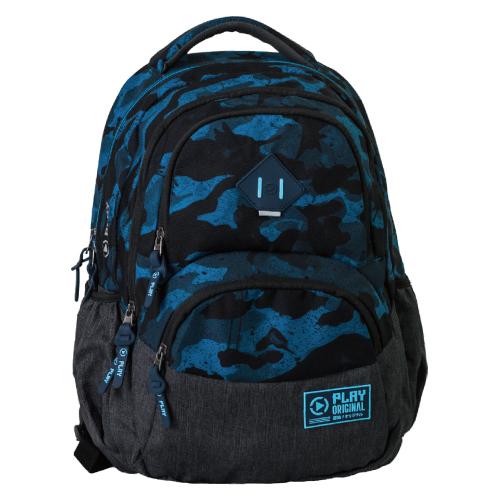 PLAY BAG - Školský batoh Axor, Army - Blue