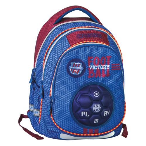 PLAY BAG - Školský batoh Maxx Play, Blue Football
