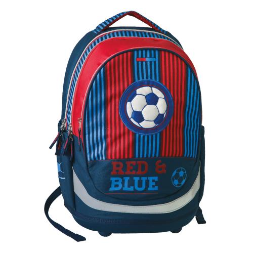 PLAY BAG - Školský batoh Seven Sazio, Red&Blue Football
