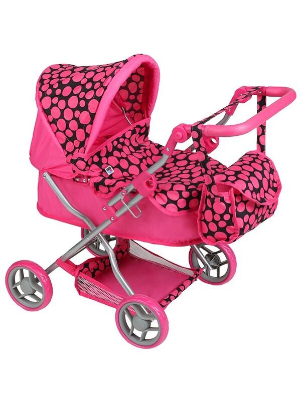 PLAYTO - Hlboký kočík pre bábiky Viola ružový