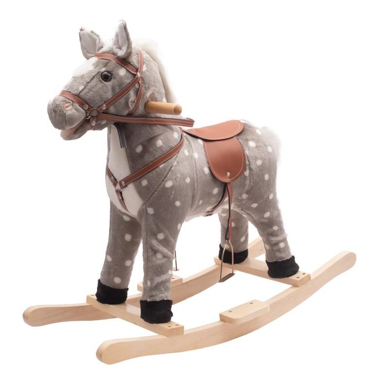 PLAYTO - Hojdací koník s melódiou grošovaný