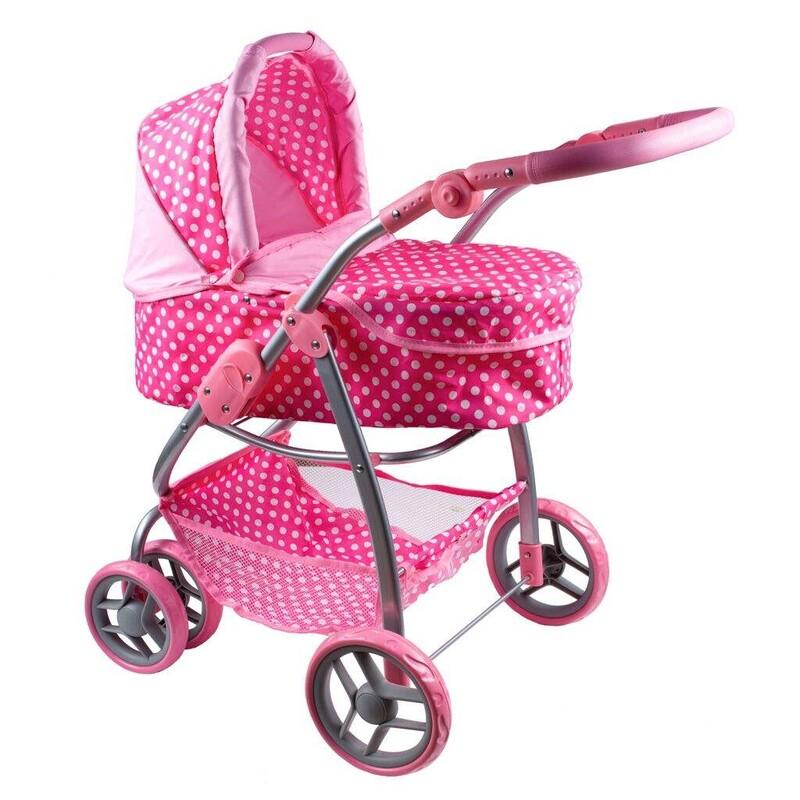 PLAYTO - Multifunkčný kočík pre bábiky Jasmínka svetlo ružový