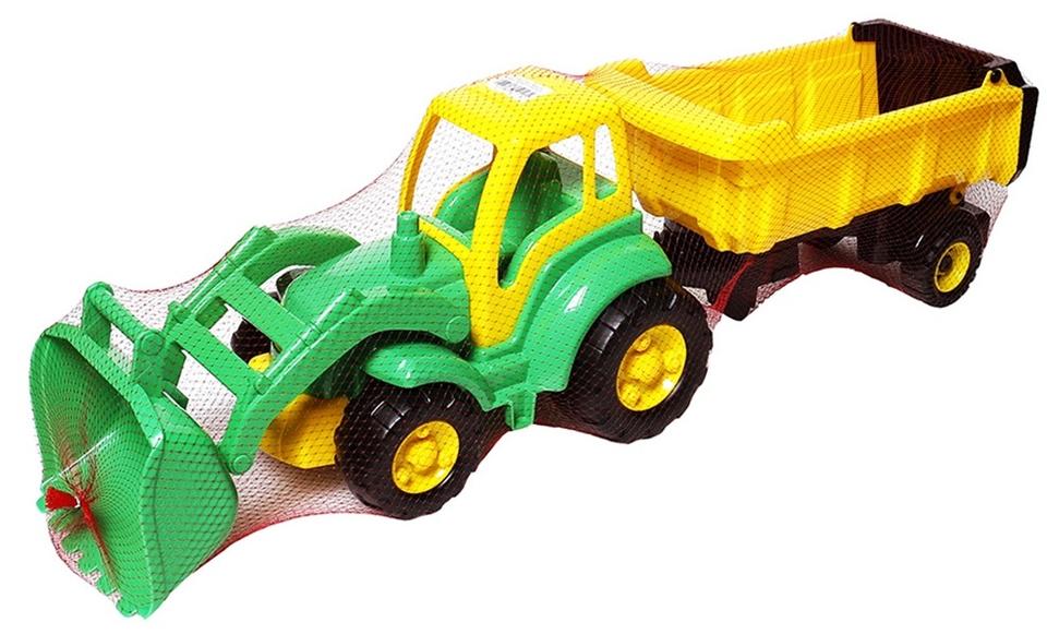 POLESIE - Traktor Šampión nakladač s prívesom 86cm - červená