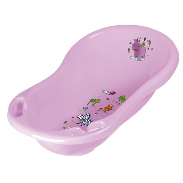 PRIMA BABY - Detská vanička Hippo 84 cm, svetlo fialová
