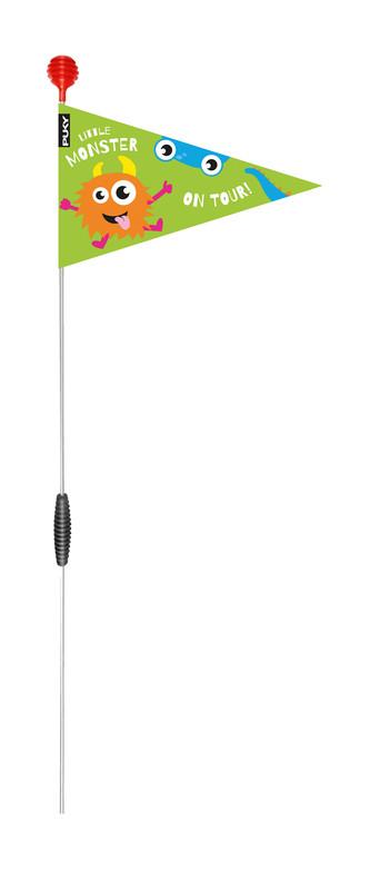 PUKY - Bezpečnostná vlajka pre bicykel/kolobežku SW - kiwi