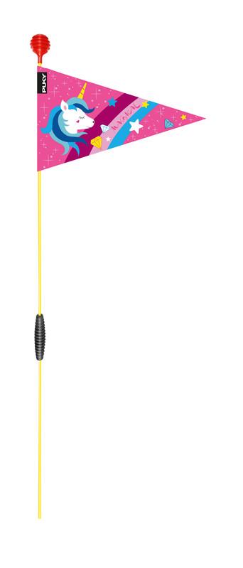 PUKY - Bezpečnostná vlajka pre bicykel/kolobežku SW - ružová