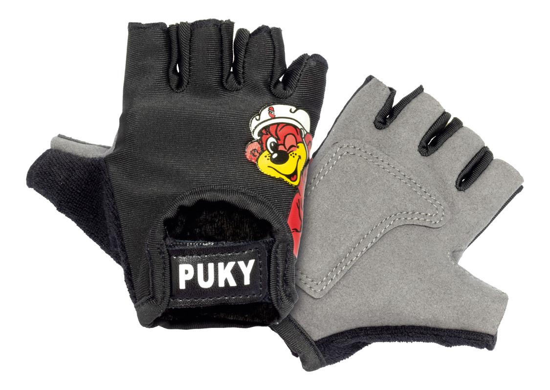 PUKY - Cyklistické rukavice S - čierne