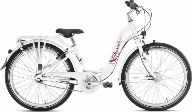 PUKY - detský bicykel SKYRIDE 24-7 Alu light biele