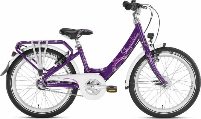 PUKY - detský bicykel SKYRIDE 20-3 Alu fialová