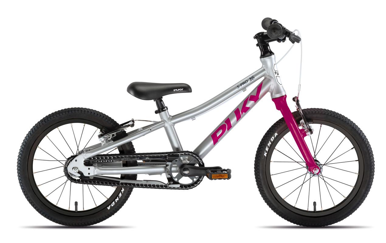 PUKY - Detský bicykel S PRO 16-1 Alu - strieborná/berry