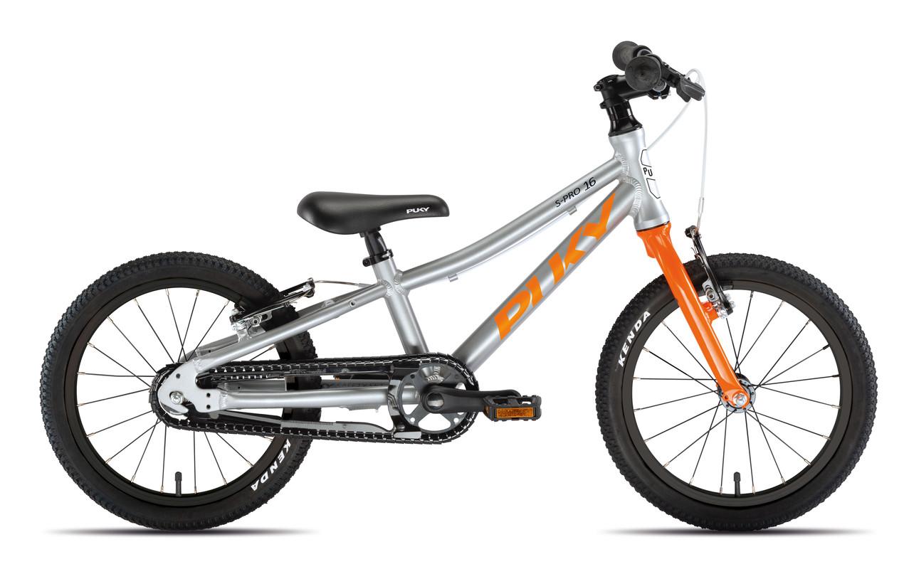 PUKY - Detský bicykel S PRO 16-1 Alu - strieborná/oranžová
