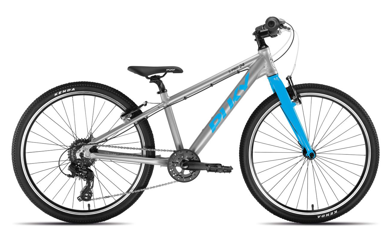 PUKY - Detský bicykel S PRO 24-8 Alu - strieborná/modrá