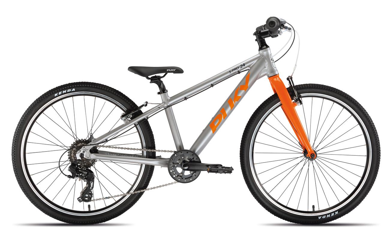 PUKY - Detský Bicykel S PRO 24-8 Alu - strieborná/oranžová