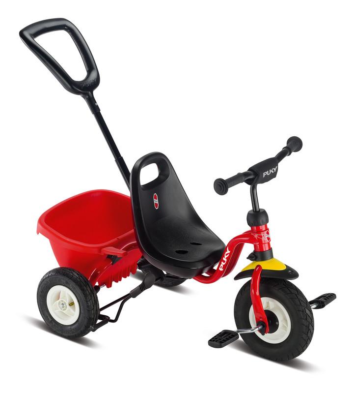 PUKY - Detská trojkolka s tyčou Ceety Air - červená