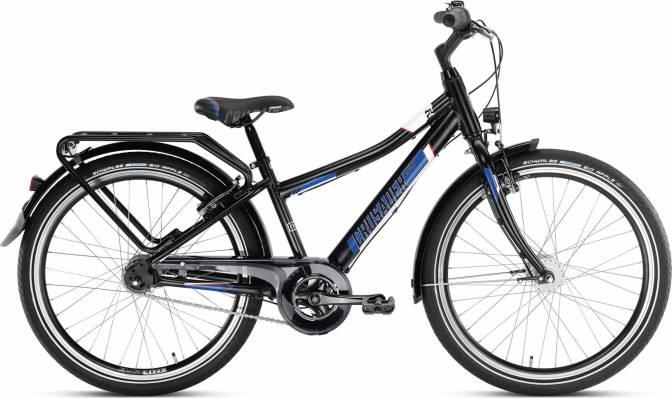 PUKY - detský bicykel CRUSADER 24-7 Alu City Ligth čierny