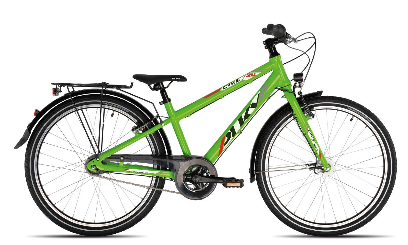 PUKY - Detský bicykel CYKE 24-7 Alu light - zelený