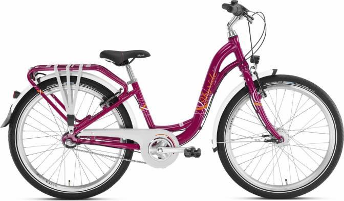 PUKY - detský bicykel SKYRIDE 24-3 Alu light berry