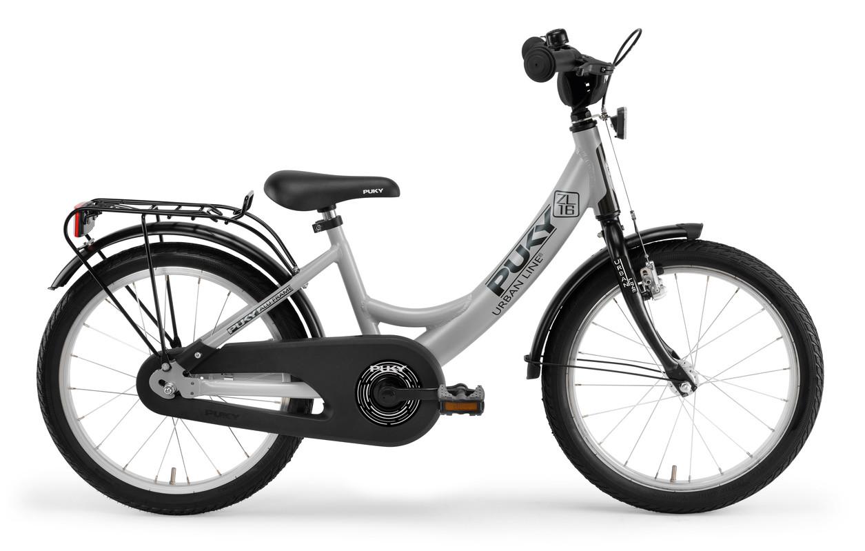 PUKY - Detský bicykel ZL 16 Alu - sivá/čierna 2019
