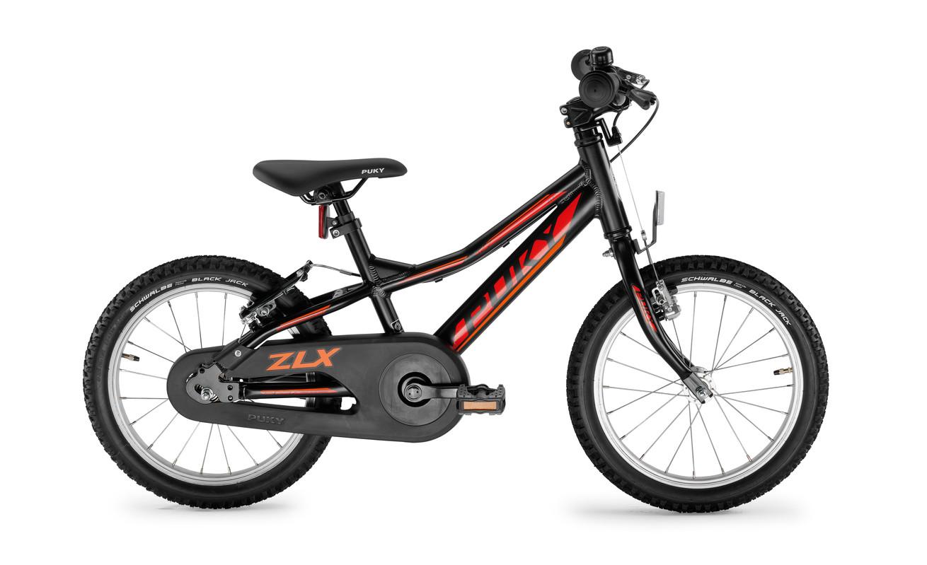 PUKY - Detský bicykel ZLX 16-1F Alu - čierny, voľnobeh