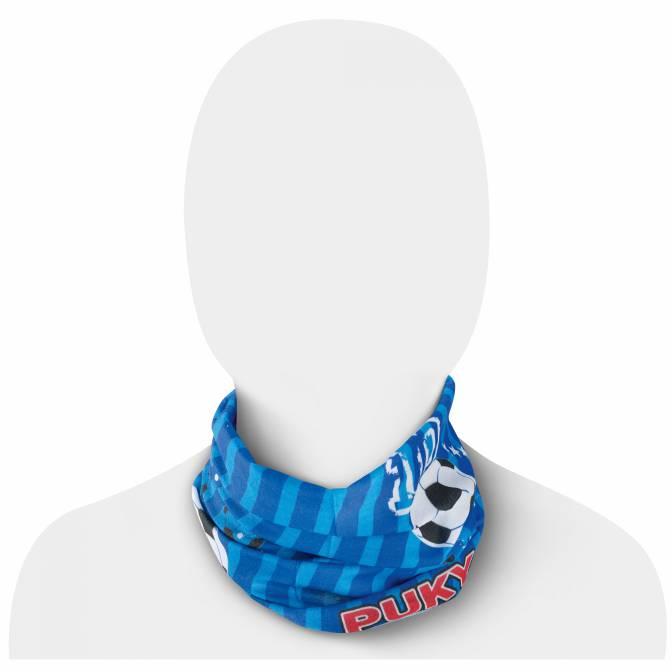 PUKY - multifunkčná šatka modrá motív futbal