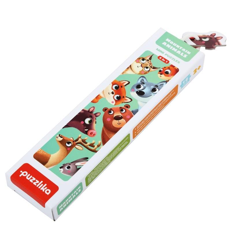 PUZZLIKA - 14798 Lesné zvieratká - náučné puzzle 8 zvieratiek - 16 dielikov