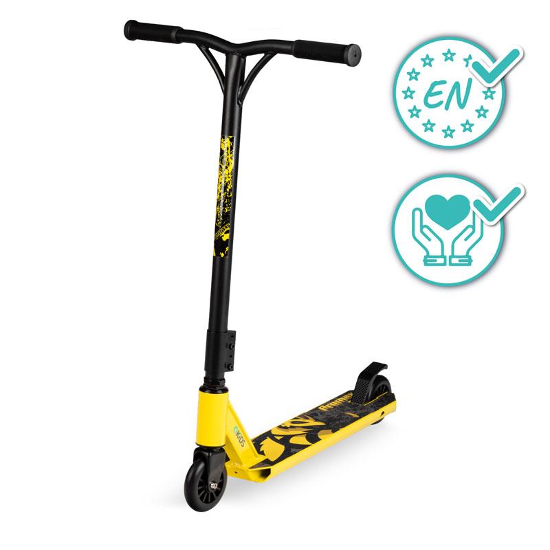 QKIDS - Freestyle kolobežka IVO yellow