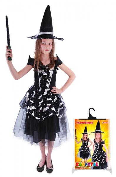 RAPPA - Detský kostým čarodejnica Netopierka (S), Čarodejnica / Halloween