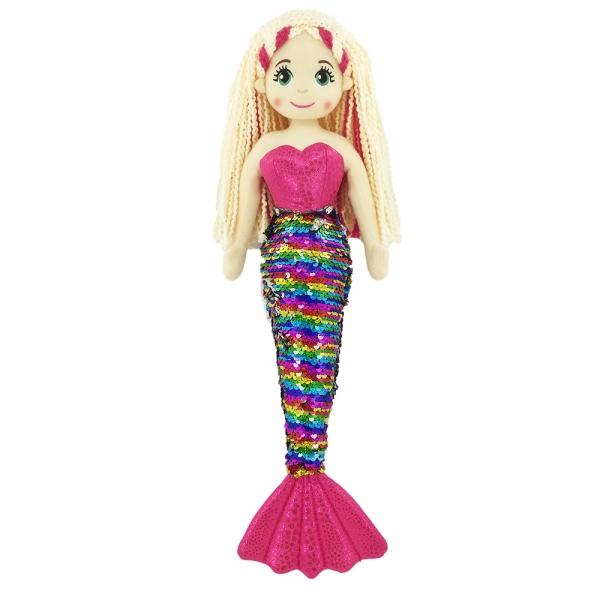 RAPPA - Handrová bábika morská panna Šupinka 45 cm