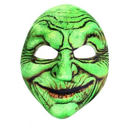 RAPPA - Karnevalová maska čarodejnica zelená