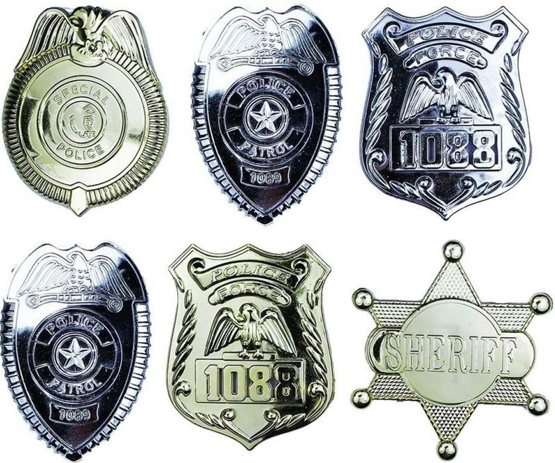 RAPPA - Odznak policajný 6 ks v sáčku