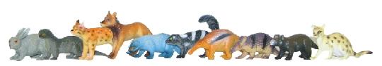 RAPPA - Zvieratá lesné, 10 ks v sáčku