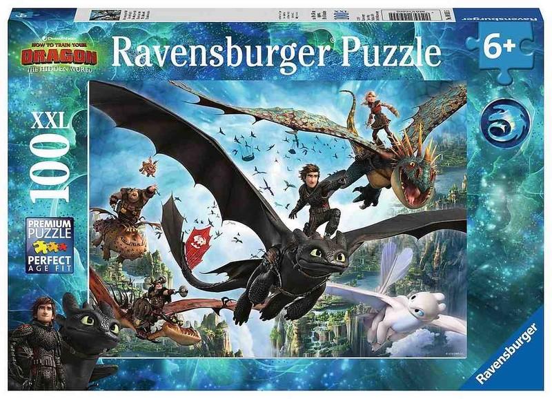 RAVENSBURGER - Ako si vycvičiť draka 3 100 dielikov