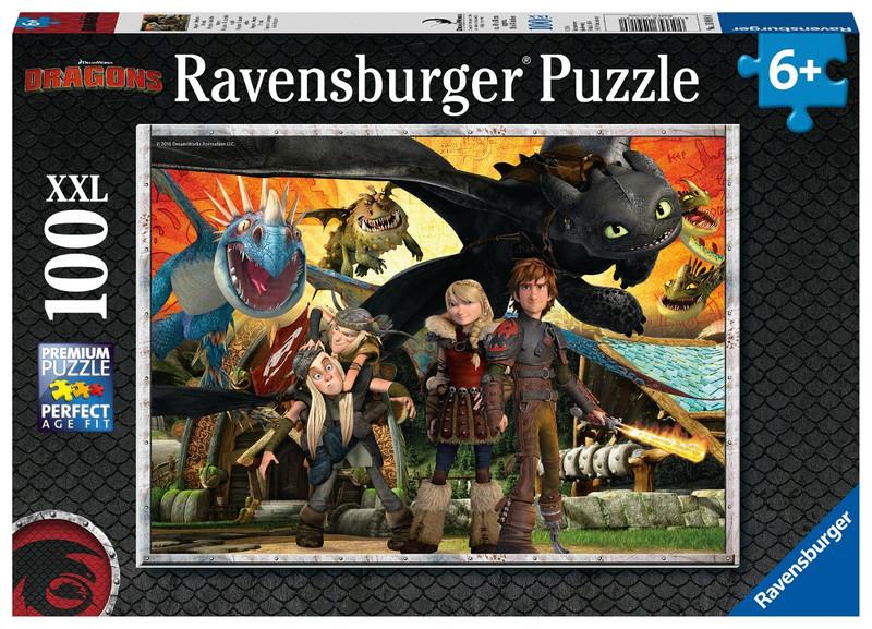 RAVENSBURGER - Ako si vycvičiť draka: Priatelia drakov 100 dielikov