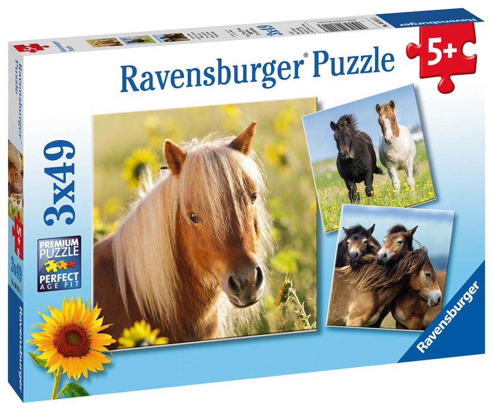 RAVENSBURGER - At Süße Pferdefotos 3X49 Dielikov