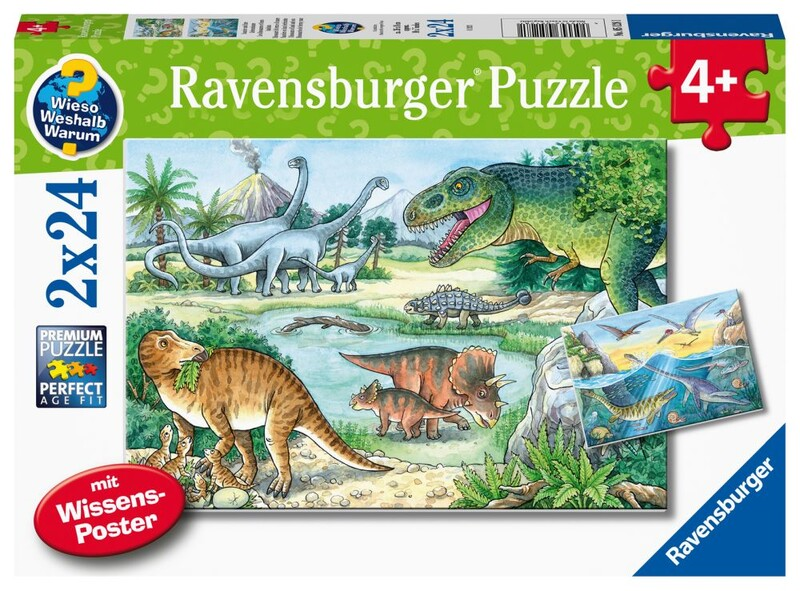 RAVENSBURGER - Dinosaury 2X24 Dielikov
