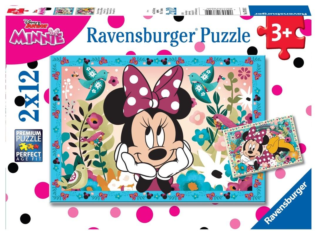 RAVENSBURGER - Disney Minnie; 2x12 dielikov