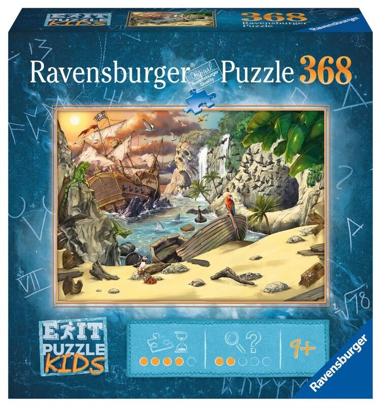 RAVENSBURGER - Exit Kids Puzzle: Piráti 368 Dielikov