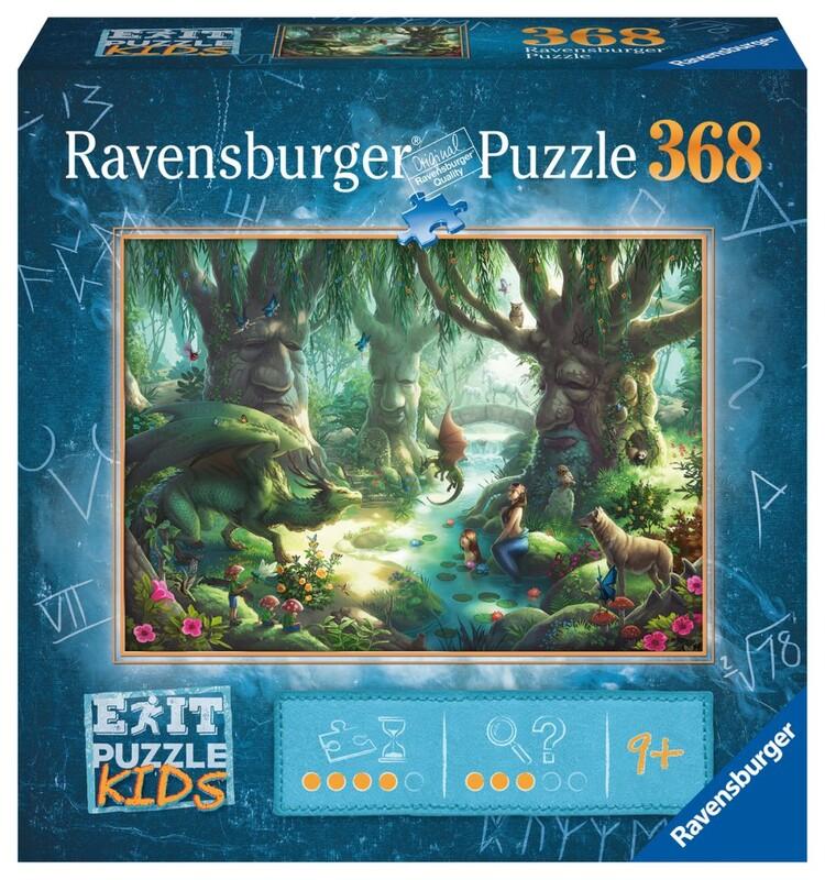 RAVENSBURGER - Exit Kids Puzzle: V Magickom Lese 368 Dielikov