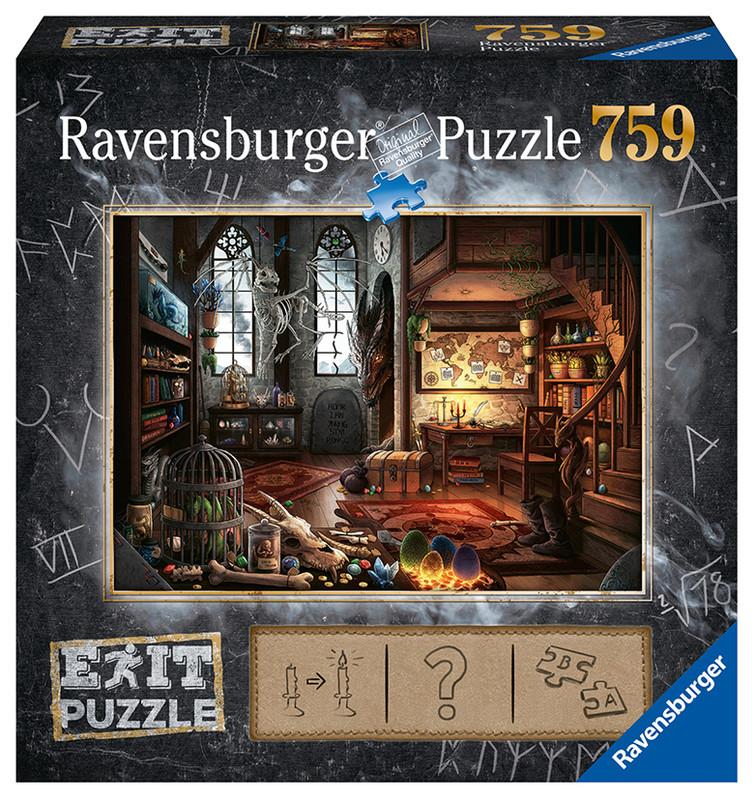 RAVENSBURGER - Exit Puzzle: Dračí laboratórium 759 dielikov