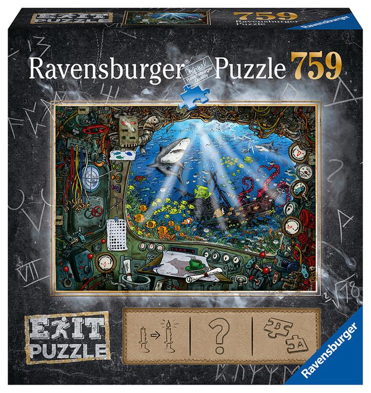RAVENSBURGER - Exit Puzzle: Ponorka 759 dielikov