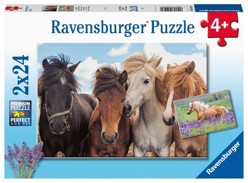 RAVENSBURGER - Fotky Koní 2X24 Dielikov