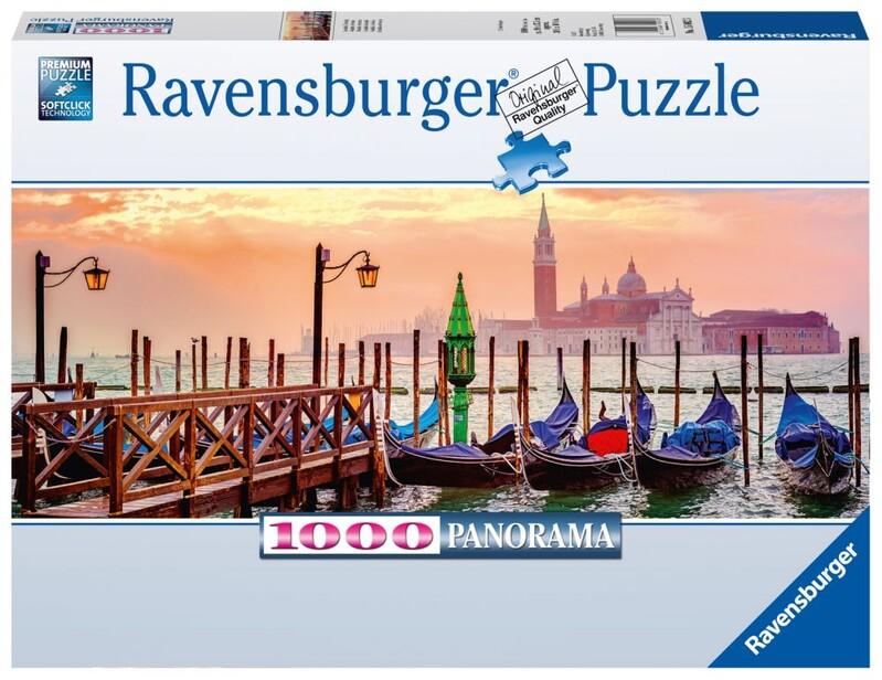 RAVENSBURGER - Gondoly V Benátkach 1000 Dielikov Panoráma