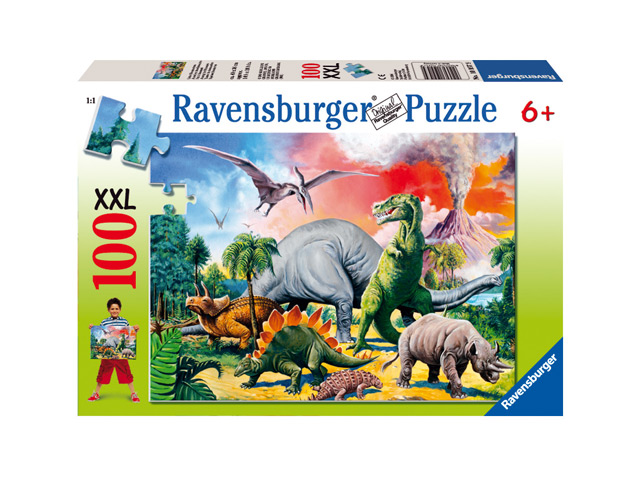 RAVENSBURGER - Medzi Dinosaurami 100 Xxl
