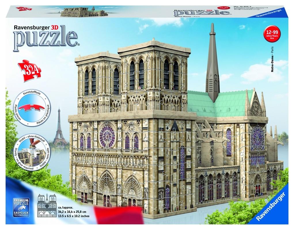 RAVENSBURGER - Notre Dame 3D 216 dielikov