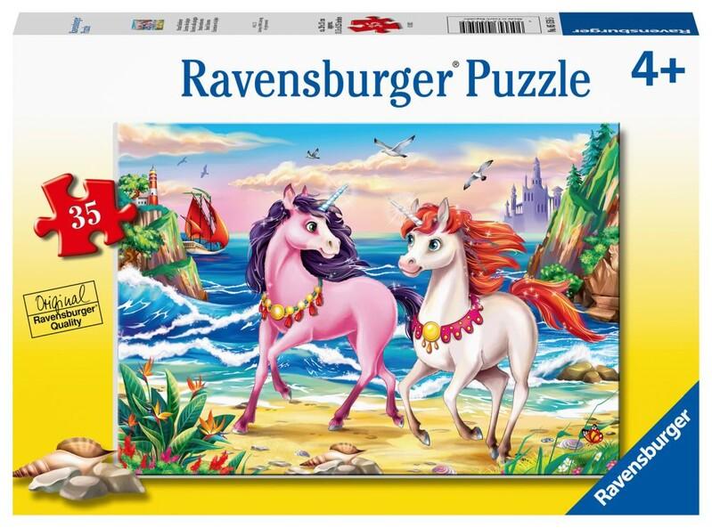 RAVENSBURGER - Plážoví Jednorožci 35 Dielikov
