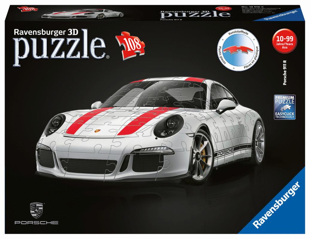 RAVENSBURGER - Porsche 911R; 3D, 108 dielikov