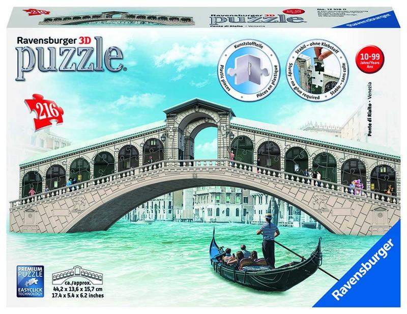 RAVENSBURGER - Rialto most, Benátky 216 dielikov