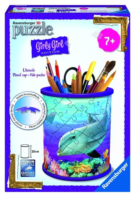 RAVENSBURGER - Stojan na ceruzky Podvodné svet; 3D, 54 dielikov
