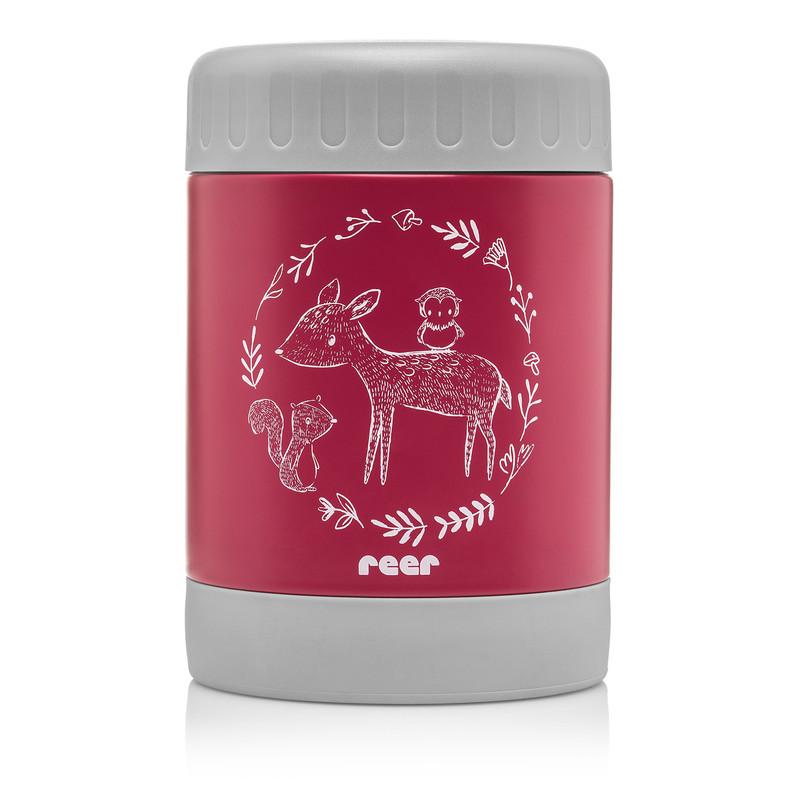 REER - Termoska 350 ml široká červená ColourDesign